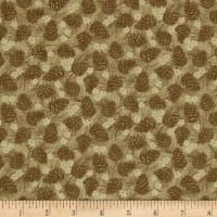 Winter Wonderland Pine Cones Tonal Tan