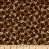 Winter Wonderland Pine Cones Tonal Brown