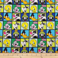 Looney Tunes Characters Blocks Blue