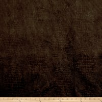 Richloom Barkskin Embossed Velvet Chocolate