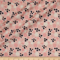 Riley Blake Blush Floral Sparkle Pink Metallic