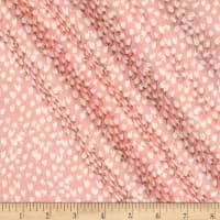 Riley Blake Blush Metallic Petals Sparkle Pink
