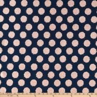Riley Blake Blush Metallic Dot Saprkle Blue