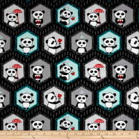 Riley Blake Panda Love Panda Main Black