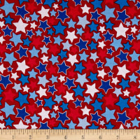Riley Blake Patriotic Picnic Stars Red