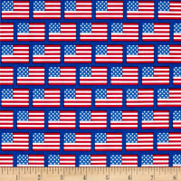 Riley Blake Patriotic Flags Blue