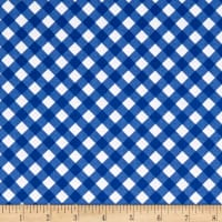 Riley Blake Patriotic Picnic Gingham Blue