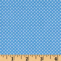 Riley Blake Patriotic Mini Stars Light Blue