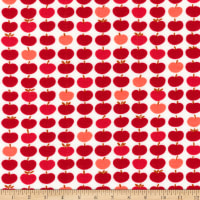 Kaufman Laguna Jersey Knit Prints Red Apples