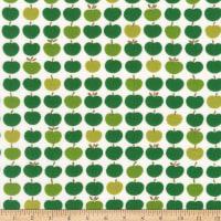 Kaufman Laguna Jersey Knit Prints Green Apples