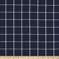 Kaufman Essex Yarn Dyed Classic Wovens Indigo Checks