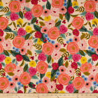 Cotton + Steel Rifle Paper Co. English Garden Juliet Rose Canvas Cream