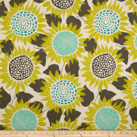 Cotton + Steel Front Yard Sunflowers Canvas Yellow