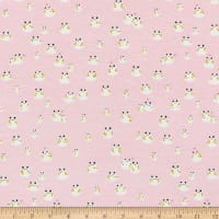 Cotton + Steel Front Yard Stretch Jersey Knit Frogs Pink