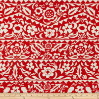 Cotton + Steel Moonrise Rayon Challis Market Floral Red