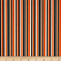 Riley Blake Haunted House Haunted Stripe Orange