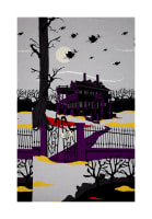 "Riley Blake Haunted House Haunted 24"" Panel Gray"
