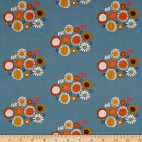 Riley Blake Guinevere Flower Dark Blue
