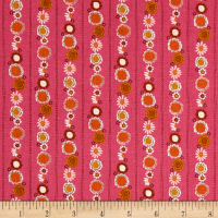 Riley Blake Guinevere Daisy Chain Stripe Hotpink