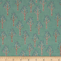 Riley Blake Lancelot Trees Teal