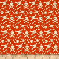 Riley Blake Cats Bats And Jacks Jacks Skulls Orange