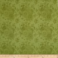 Riley Blake Love Story Love Floral Green