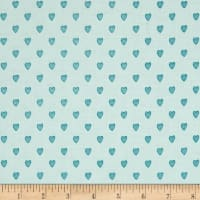Riley Blake Love Story Love Hearts Aqua
