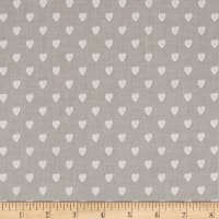 Riley Blake Love Story Love Hearts Gray