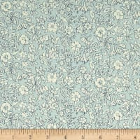 Liberty Fabrics The Cottage Garden Morning Dew Light Blue