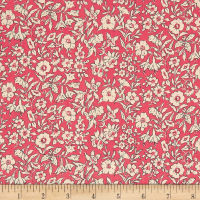 Liberty Fabrics The Cottage Garden Morning Dew Dark Pink