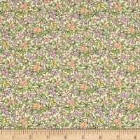 Liberty Fabrics The Cottage Garden Forget Me Not Pink Yellow Green