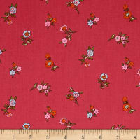 Liberty Fabrics The Cottage Garden Little Vine Dark Pink