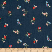 Liberty Fabrics The Cottage Garden Little Vine Dark Blue
