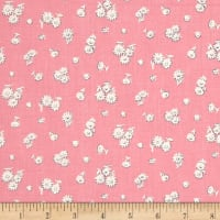 Liberty Fabrics The English Garden Tumbling Daisy X Pink White