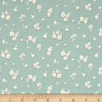 Liberty Fabrics The English Garden Tumbling Daisy Y Blue White