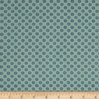 Liberty Fabrics The English Garden Floral Dot Z Blue