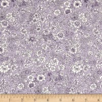 Liberty Fabrics The English Garden Emily Silhouette Y Light Blue