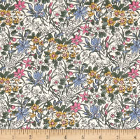 Liberty Fabrics The English Garden Ricardo X Pink Blue