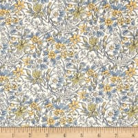 Liberty Fabrics The English Garden Ricardo Y Blue Yellow