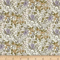 Liberty Fabrics The English Garden Ricardo Z Purple Yellow Green