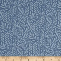 Liberty Fabrics The English Garden Leaf Trail Y Blue