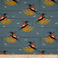 Birch Organic Charley Harper Bird Architects Barn Swallow In Graphite