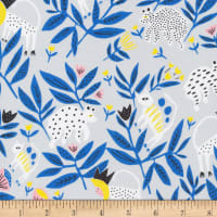 Cloud9 Fabrics Organic No Place Like Home King of Beasts Gray/bllue