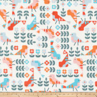 Cloud 9 Annabella Retro Garden Organic White/Multi