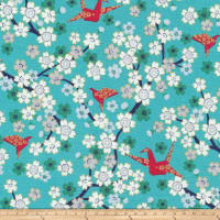 Cloud 9 Annabella Japanese Organic Metallic Teal
