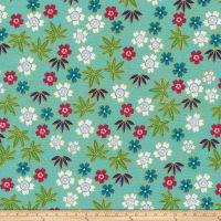 Anna Bella Japanese Organic Metallic Teal/Multi