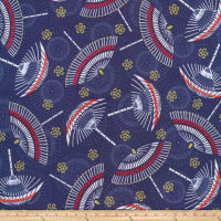 Anna Bella Japanese Organic Metallic Navy