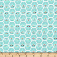 Cloud 9 Dolittles Owl Organic Turquoise