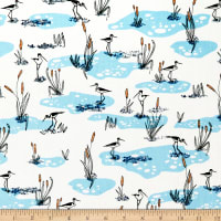 Cloud9 Fabrics Organic Terrestrial Wetlands Blue