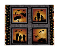 "Defenders Of Freedom 36"" Panel Amber/Black"